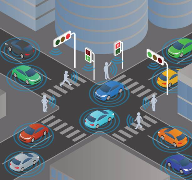 Best Road Intersection Illustrations Royalty Free Vector