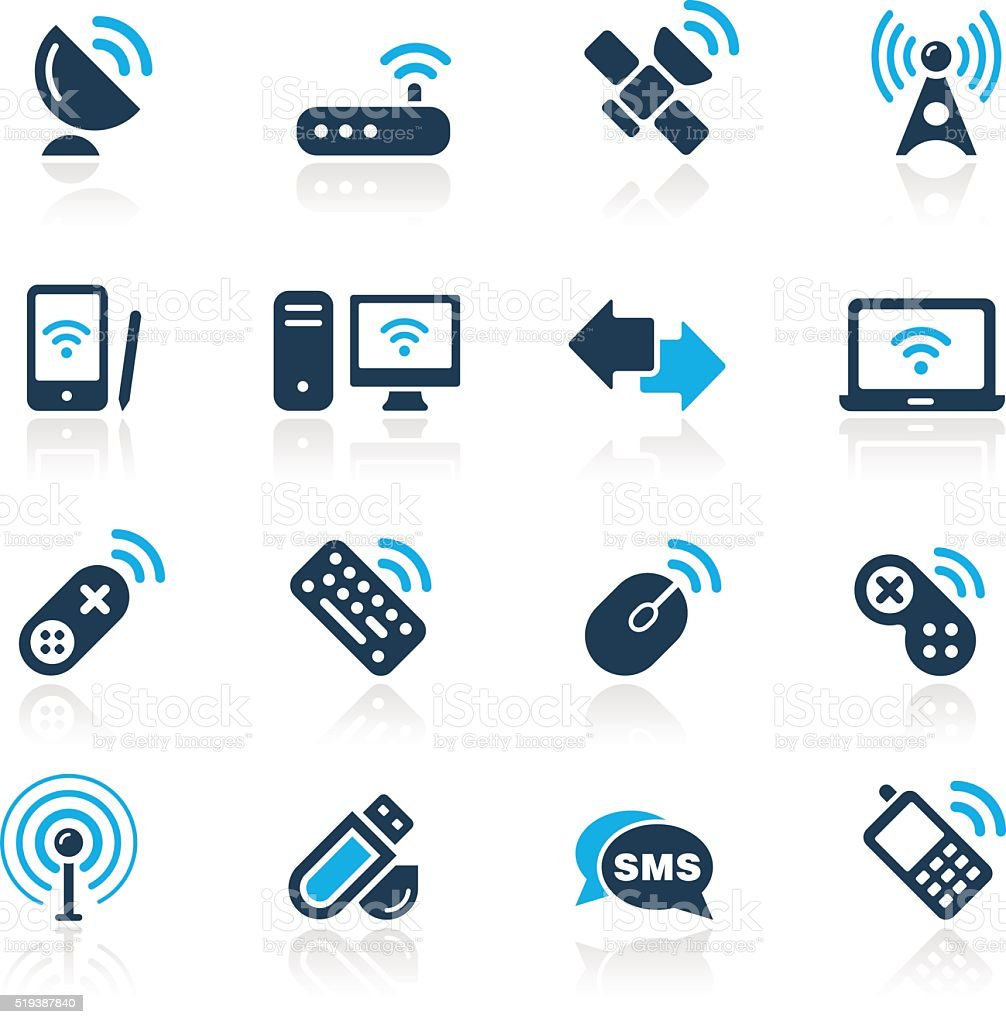 Wireless & Communications // Azure Series vector art illustration