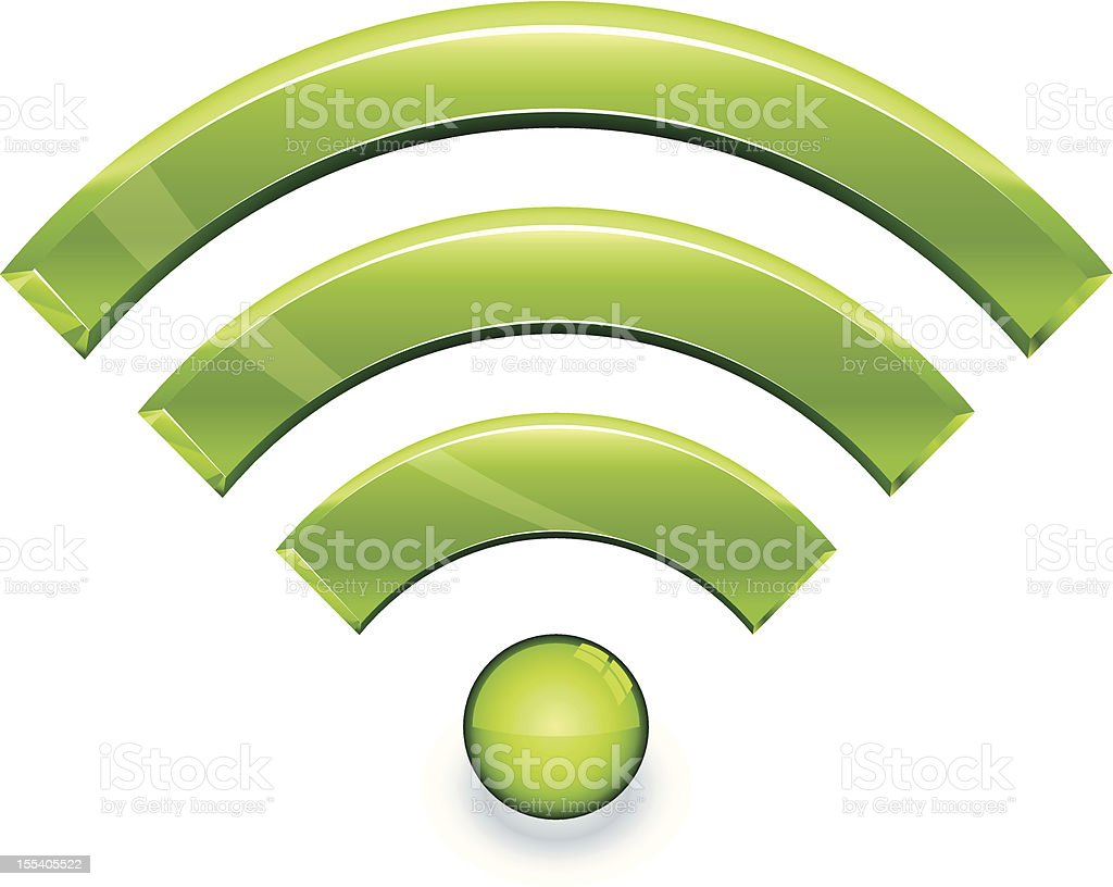 Wireless icon (1 credit) royalty-free stock vector art