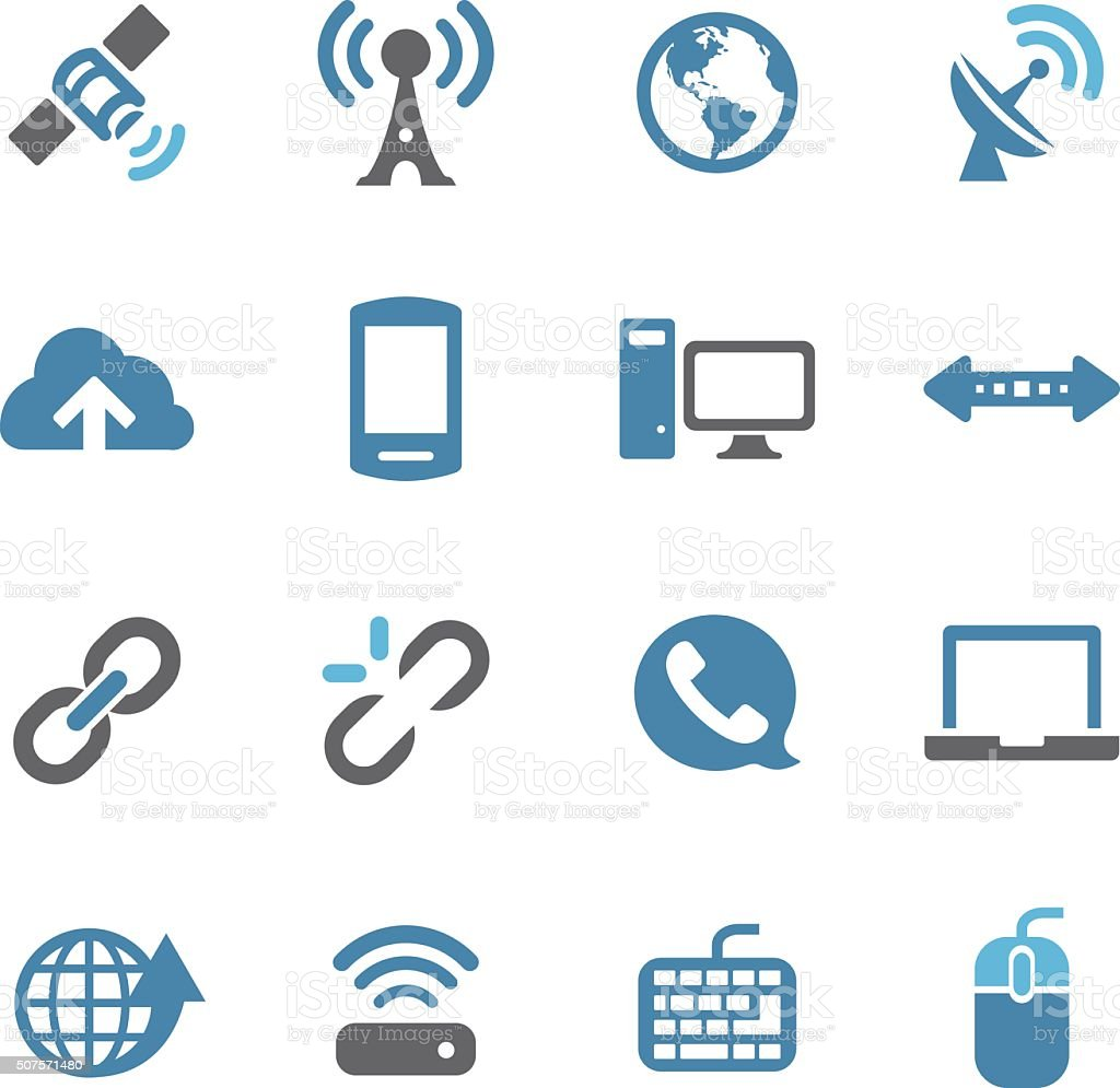 Wireless Icons - Conc Series vector art illustration