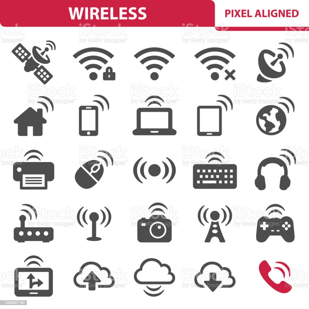 Wireless Icons royalty-free wireless icons stock illustration - download image now