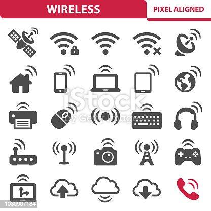 istock Wireless Icons 1030907184