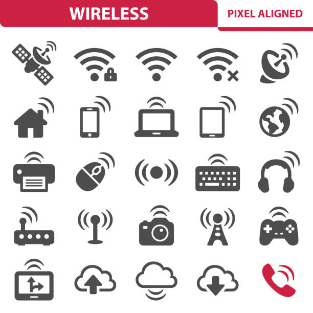 wlan-symbole - computeranlage stock-grafiken, -clipart, -cartoons und -symbole