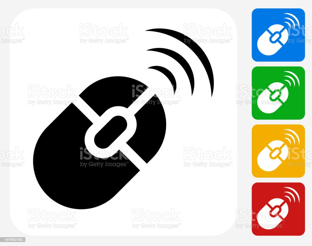 Wireless Mouse Icon Flat Graphic Design Stock Vector Art & More ...