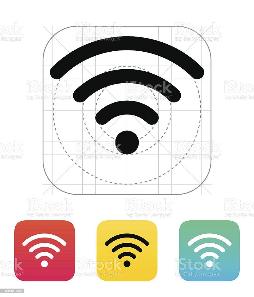Wireless network icon. vector art illustration