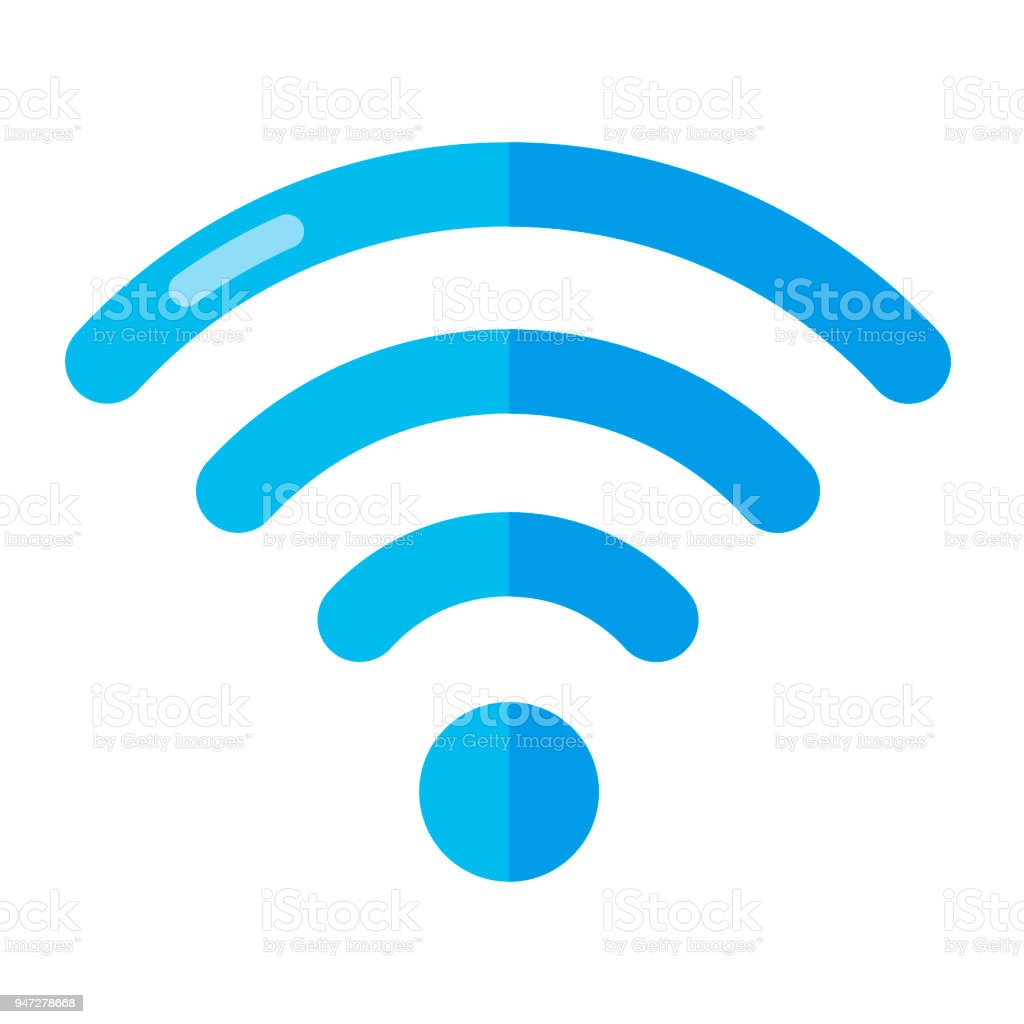 Wireless Network Symbol Isolated On White Background. Flat vector Illustration.