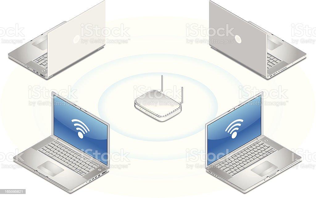 Red inalámbrica ilustración de red inalámbrica y más banco de imágenes de comunicación libre de derechos