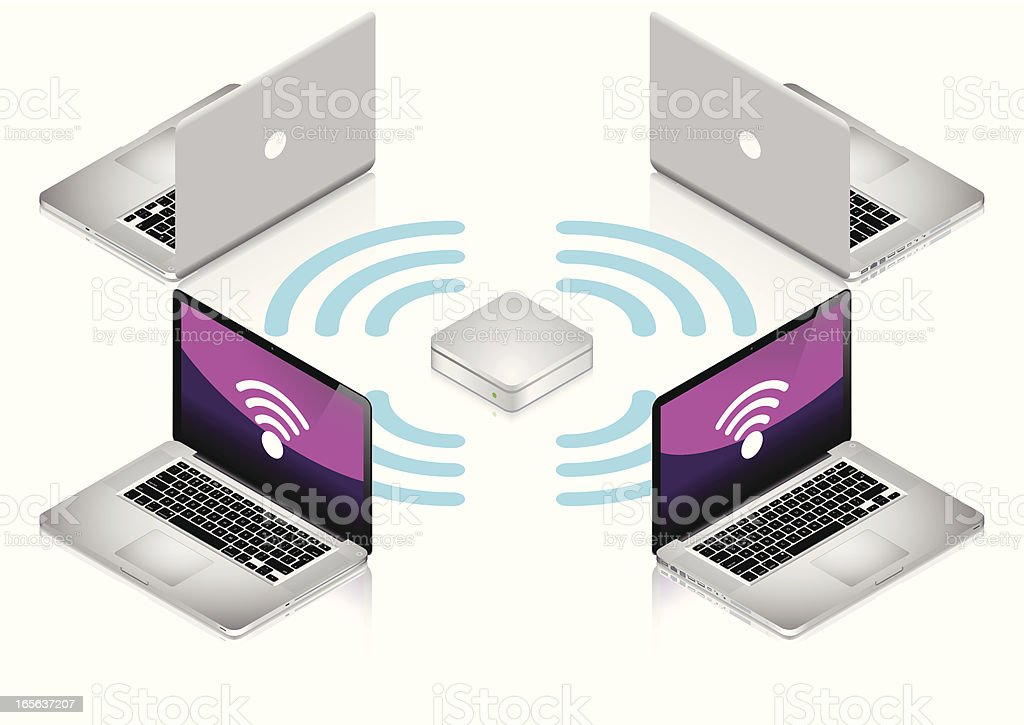 Wireless Network royalty-free stock vector art