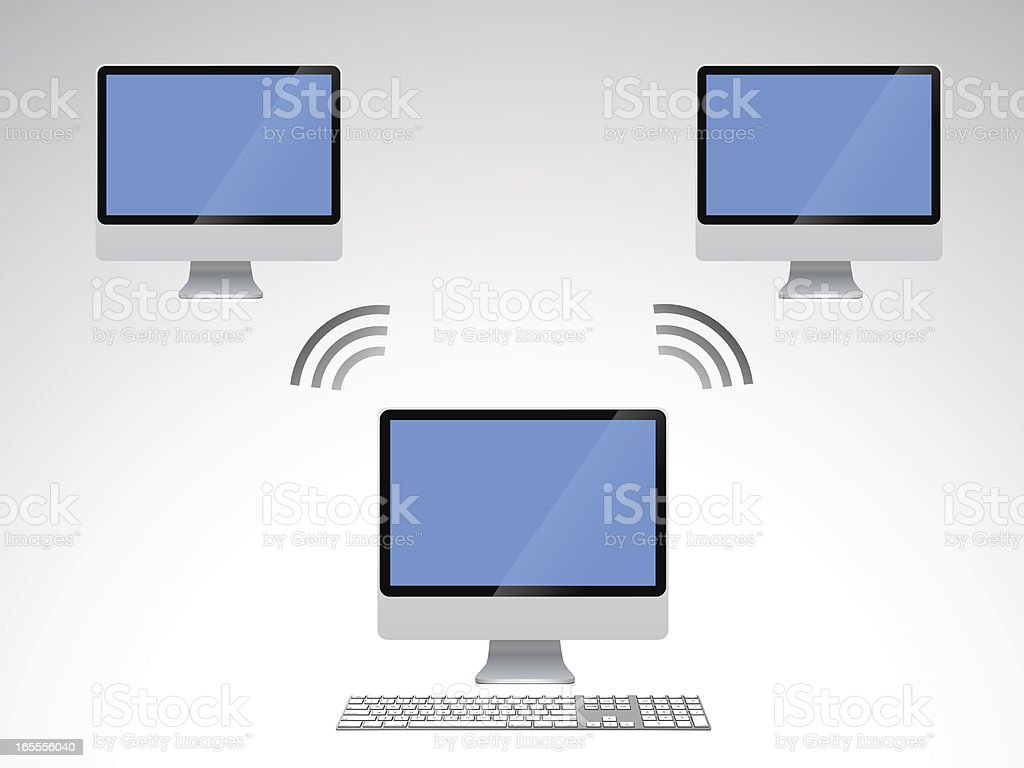 Wireless networking royalty-free stock vector art