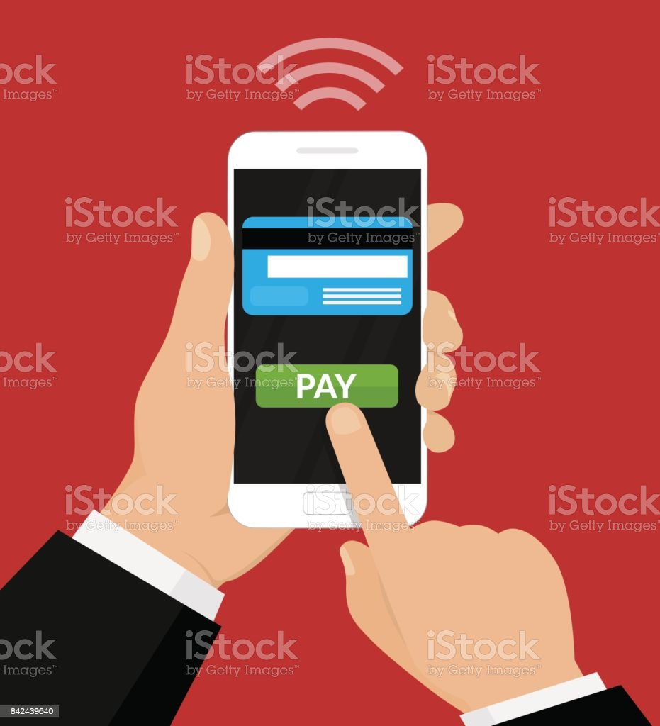 Wireless Payment Illustration. vector art illustration