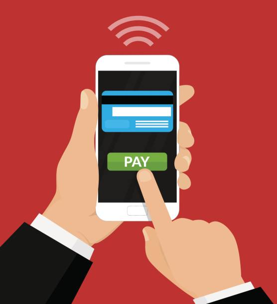 wireless payment illustration. - płacić stock illustrations