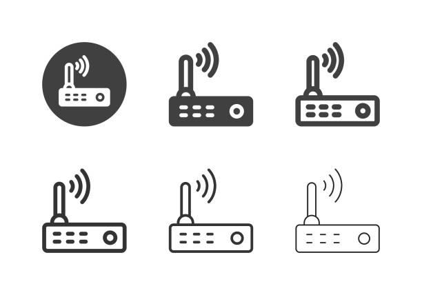 Wireless Router Icons - Multi Series vector art illustration