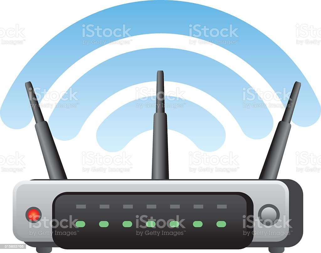 wireless router vector art illustration