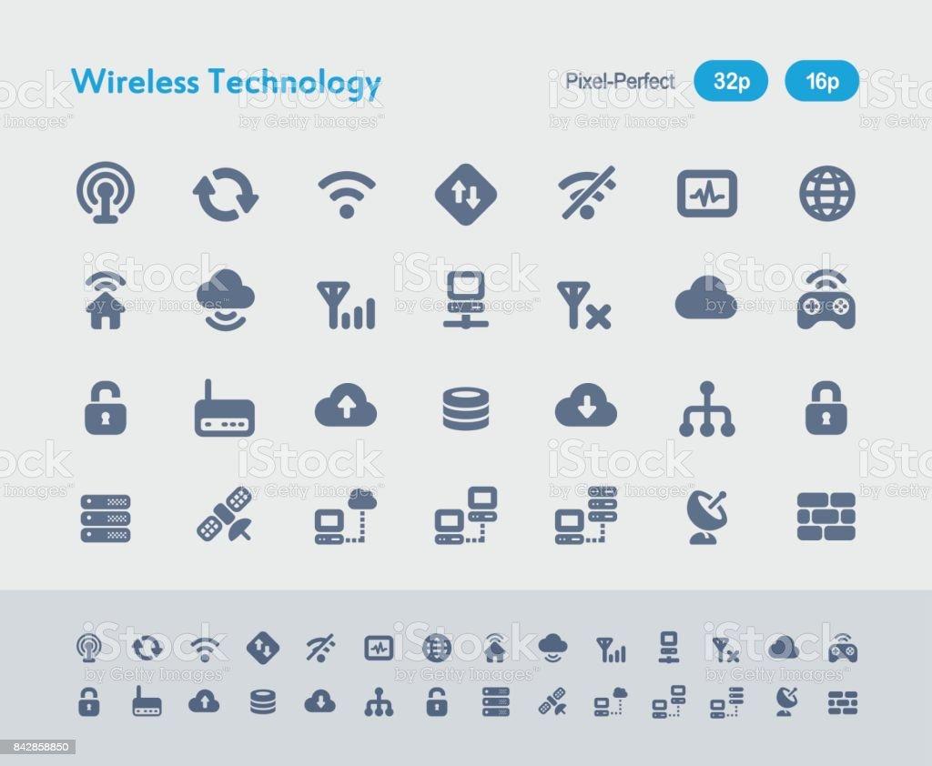 Wireless Technology - Ants Icons vector art illustration