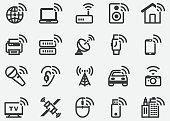 Wireless Technology Bluetooth WIFI Icons