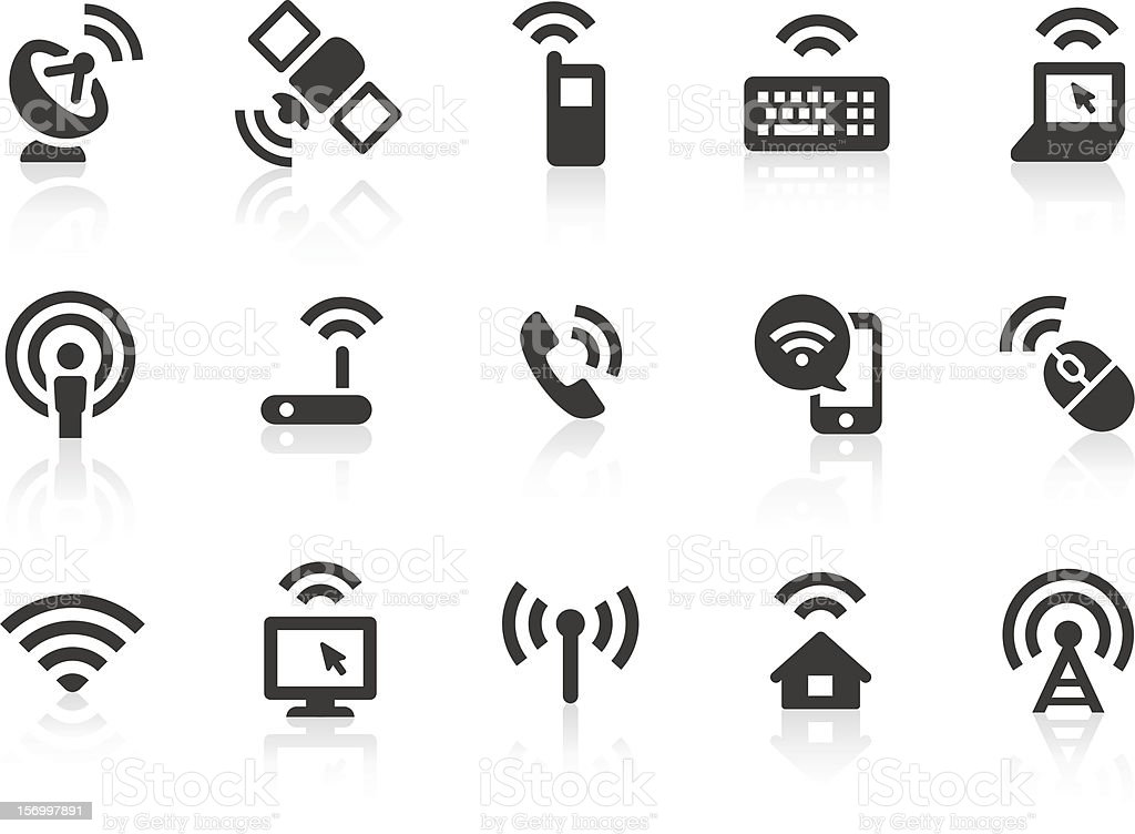 Wireless Technology icons vector art illustration