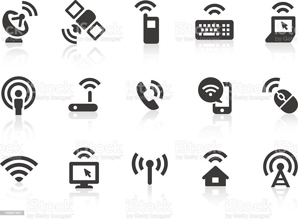 Wireless Technology icons vector art illustration