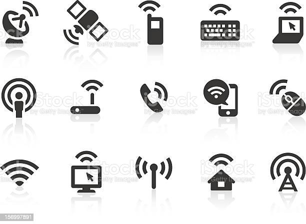 Wireless Technology Icons Stock Illustration - Download Image Now