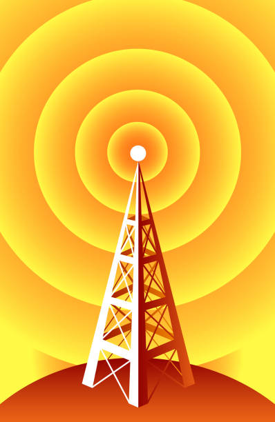 Wireless Technology Wireless Technology radio tower. repeater tower stock illustrations