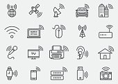 Wireless Technology WIFI lines Icons