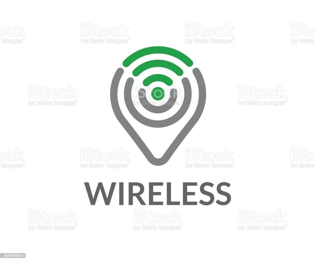 Wireless vector icon vector art illustration