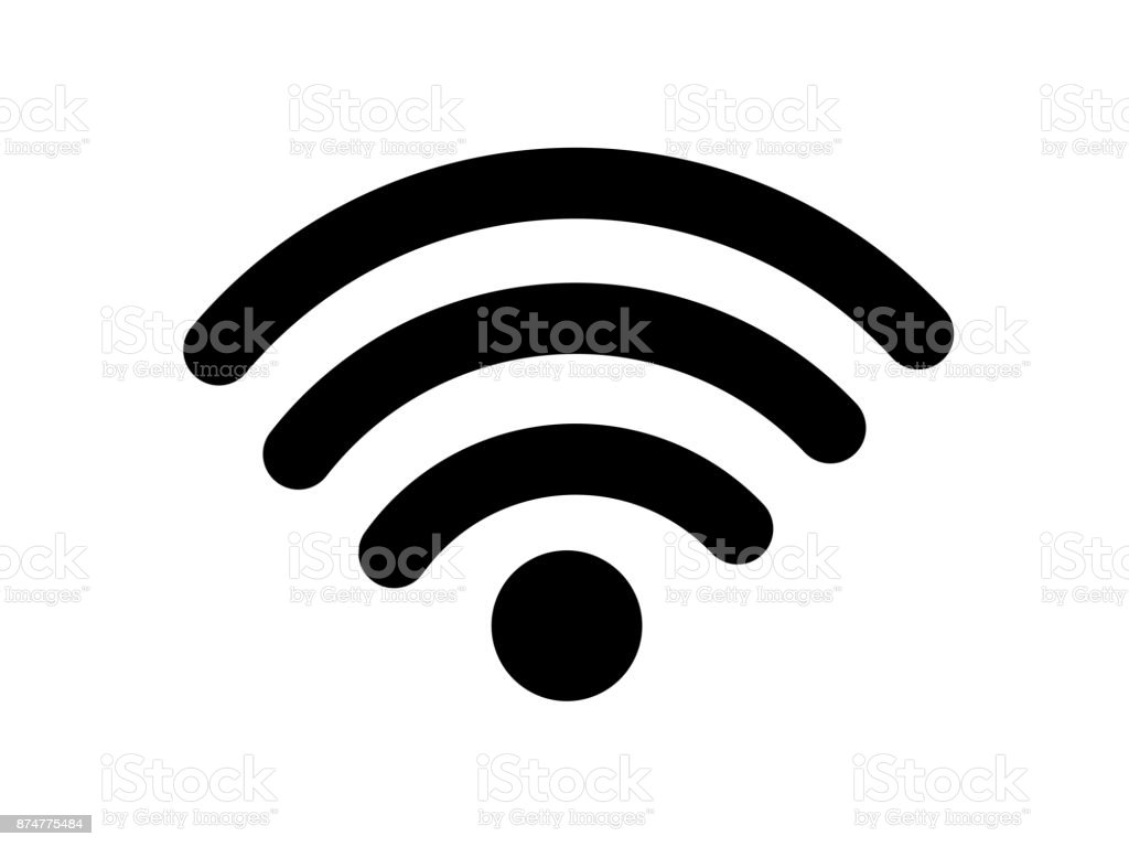 Wireless wifi or sign for remote internet access icon vector on white background, Flat style for graphic and web design vector art illustration