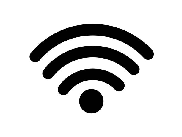 wireless wifi or sign for remote internet access icon vector on white background, flat style for graphic and web design - wireless technology stock illustrations, clip art, cartoons, & icons