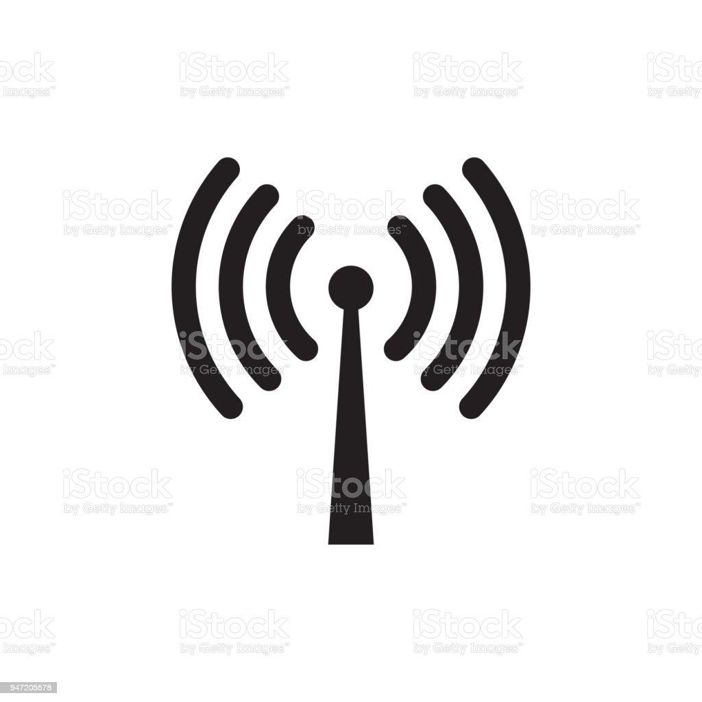 無線 wifi またはリモート インターネット アクセス アイコン ベクトル