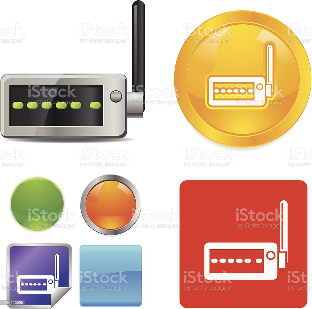Wireless Wifi Router vector icons royalty-free stock vector art
