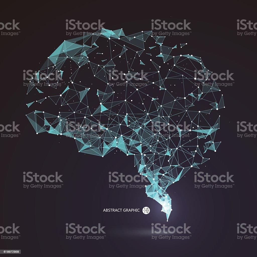 Wires from the point of brain graphics, vector illustration. royalty-free wires from the point of brain graphics vector illustration stock illustration - download image now