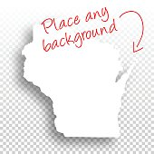 Wisconsin Map for design - Blank Background