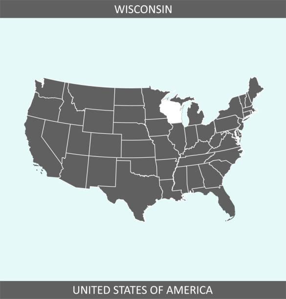 Konesha Wisconsin Usa Map on