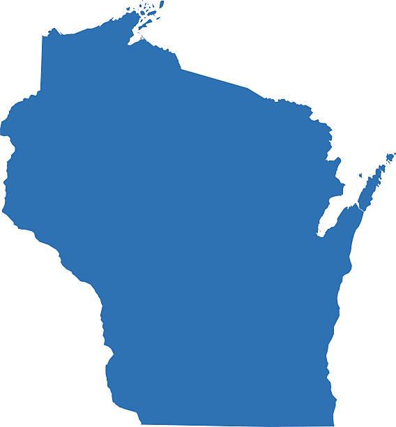 Wisconsin mapy – artystyczna grafika wektorowa