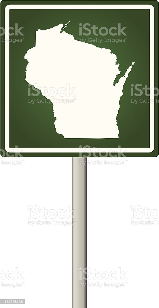 Wisconsin Sign royalty-free wisconsin sign stock vector art & more images of illustration