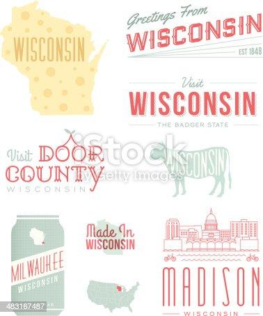 istock Wisconsin Typography 483167487