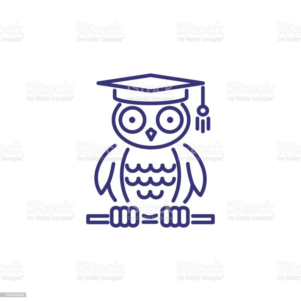 Icono de línea de la sabiduría - ilustración de arte vectorial