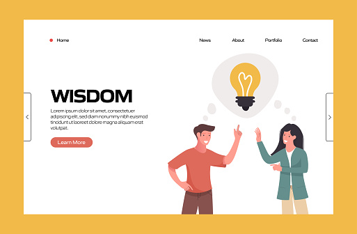 Wisdom Related Vector Illustration for Landing Page Template, Website Banner, Advertisement and Marketing Material, Online Advertising, Business Presentation etc.