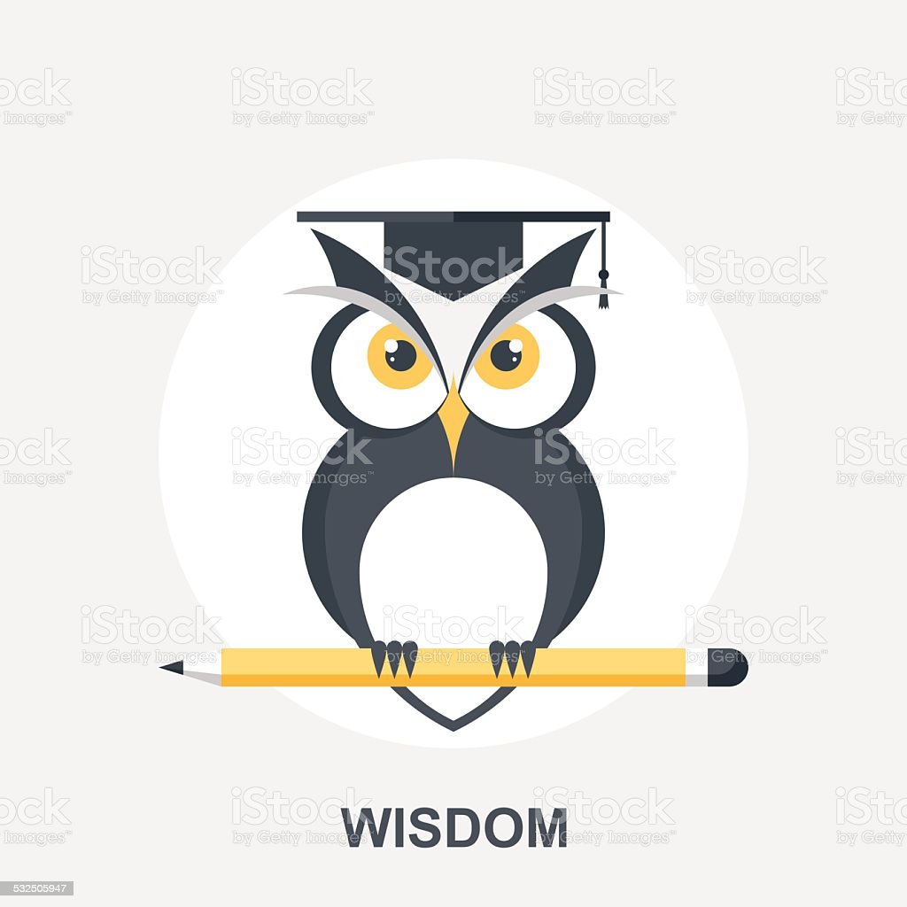Wisdom vector art illustration