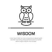 istock Wisdom Vector Line Icon - Simple Thin Line Icon, Premium Quality Design Element 1144301468