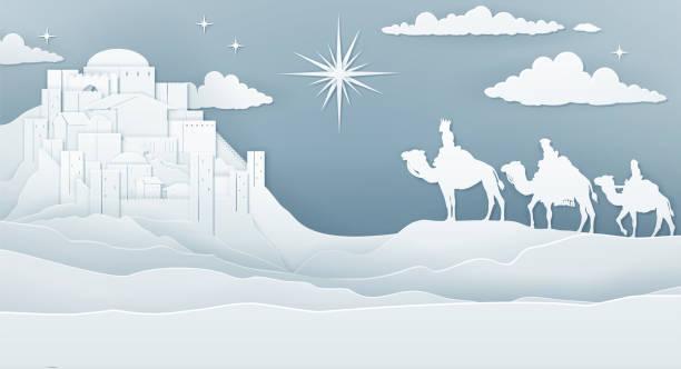 ilustrações de stock, clip art, desenhos animados e ícones de wise men nativity christmas concept - reis magos