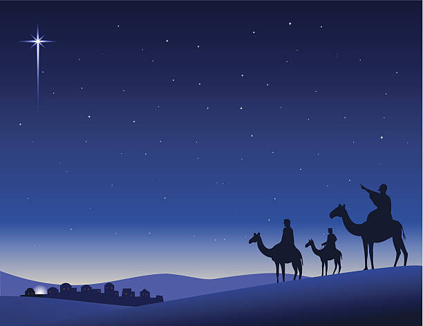 Wise Men Seeking vector art illustration