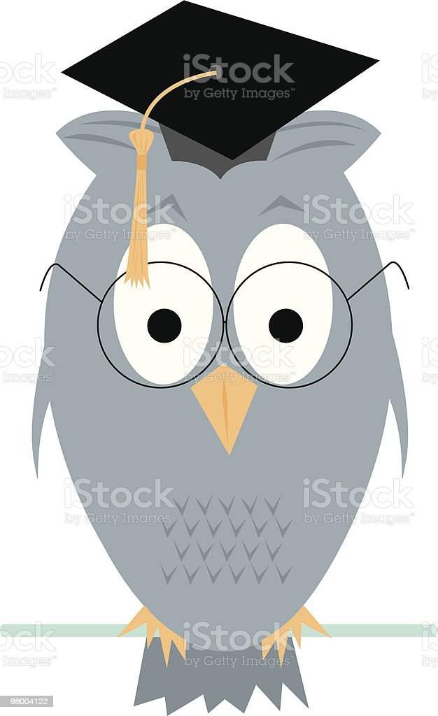 Wise Old Owl royalty-free wise old owl stock vector art & more images of bird