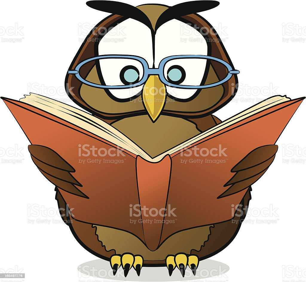wise owl cartoon stock vector art more images of animal 165497278 rh istockphoto com Tree of Knowledge Clip Art Thanksgiving Greetings Clip Art
