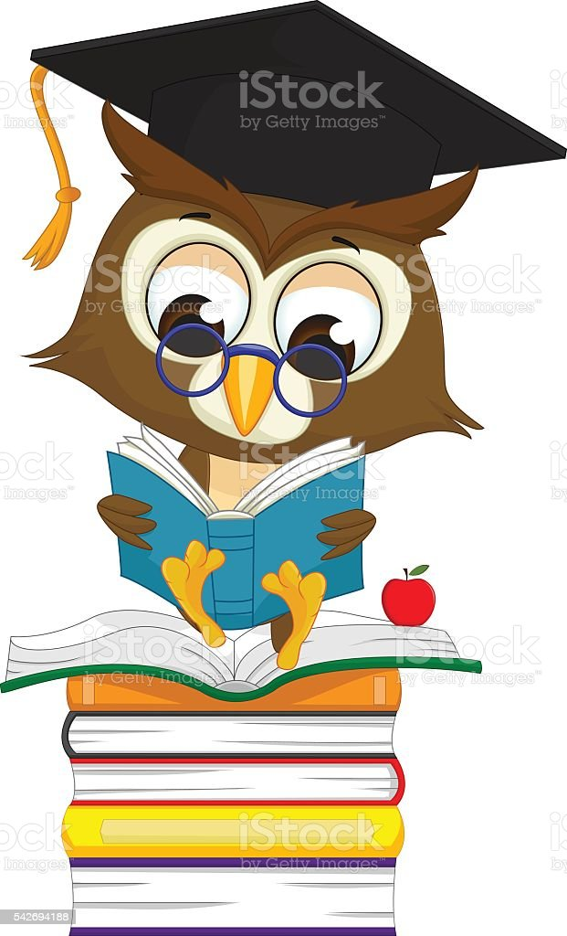 royalty free silhouette of owl reading book clip art vector images rh istockphoto com