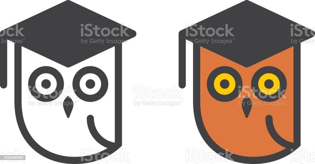 Sabio búho - ilustración de arte vectorial