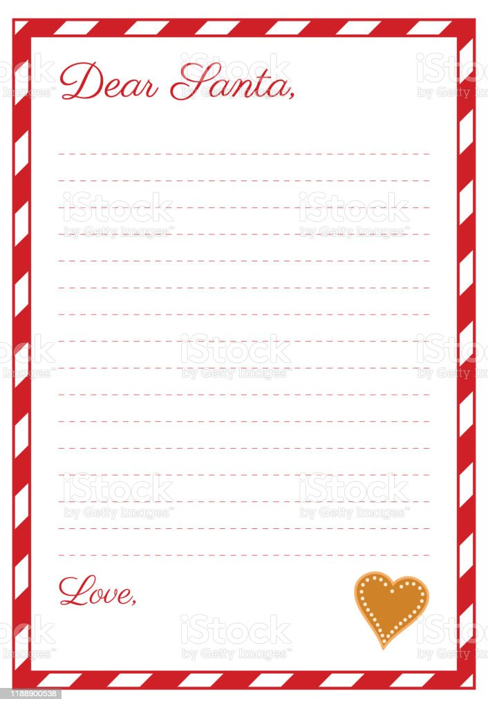 Wish List Letter Template To Santa Claus Stock Illustration Download Image Now Istock