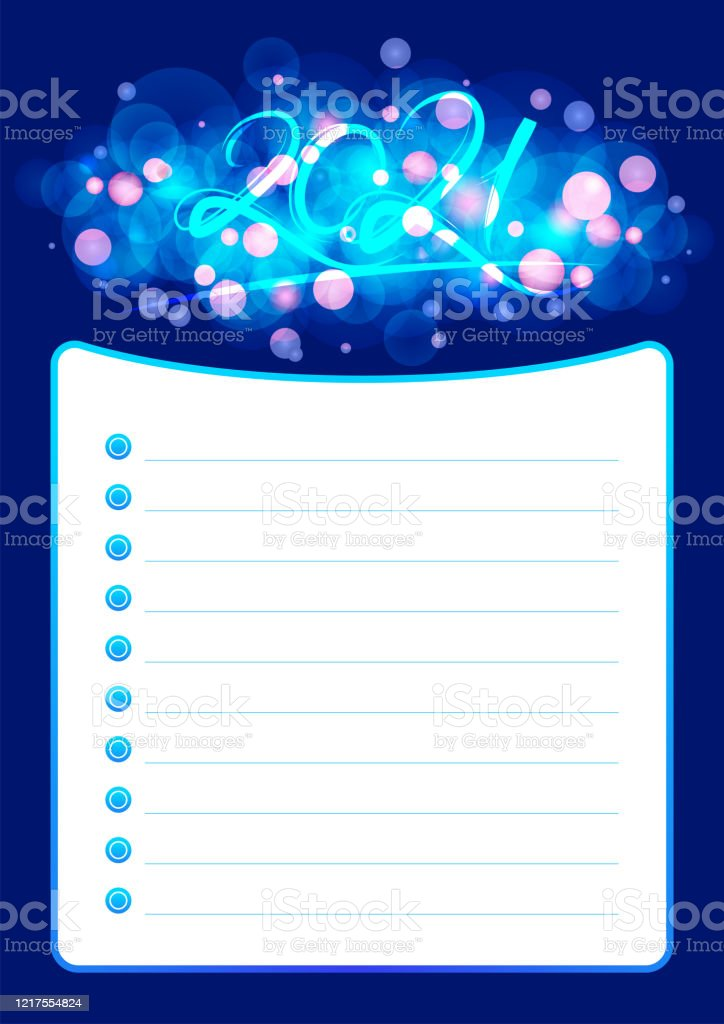 Christmas List 2021 Template 2021 Wish List Or Planner Stock Illustration Download Image Now Istock