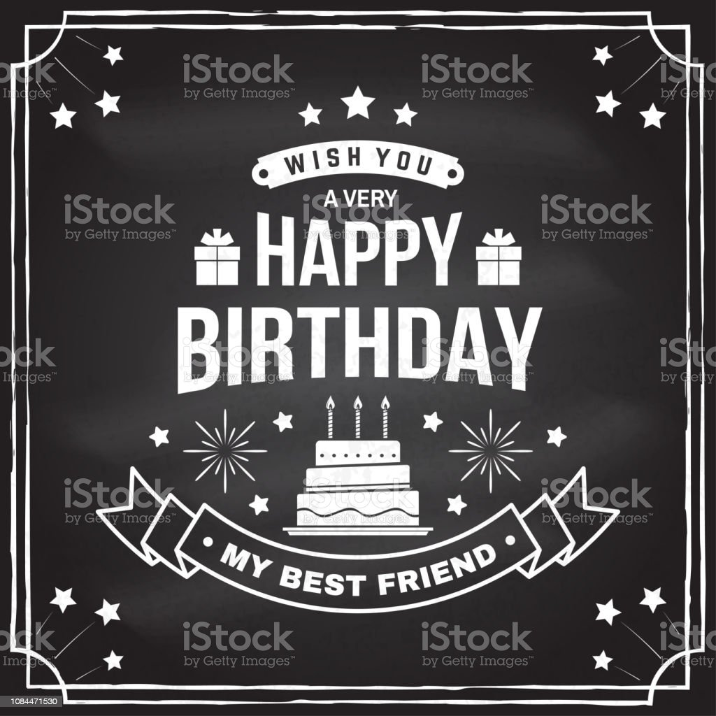 Excellent Wish You A Very Happy Birthday My Best Friend Badge Card With Birthday Cards Printable Benkemecafe Filternl