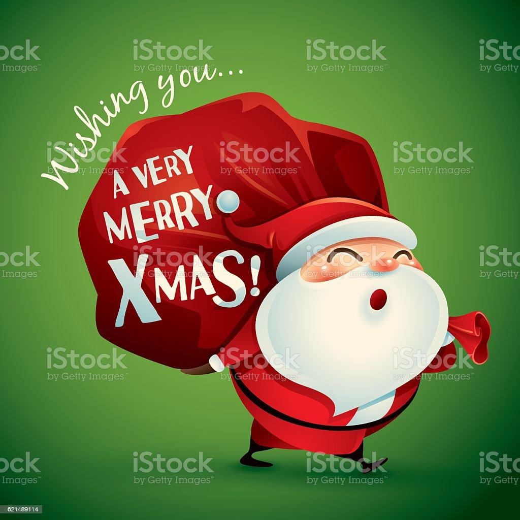 Wishing you a very Merry Christmas! Lizenzfreies wishing you a very merry christmas stock vektor art und mehr bilder von freude