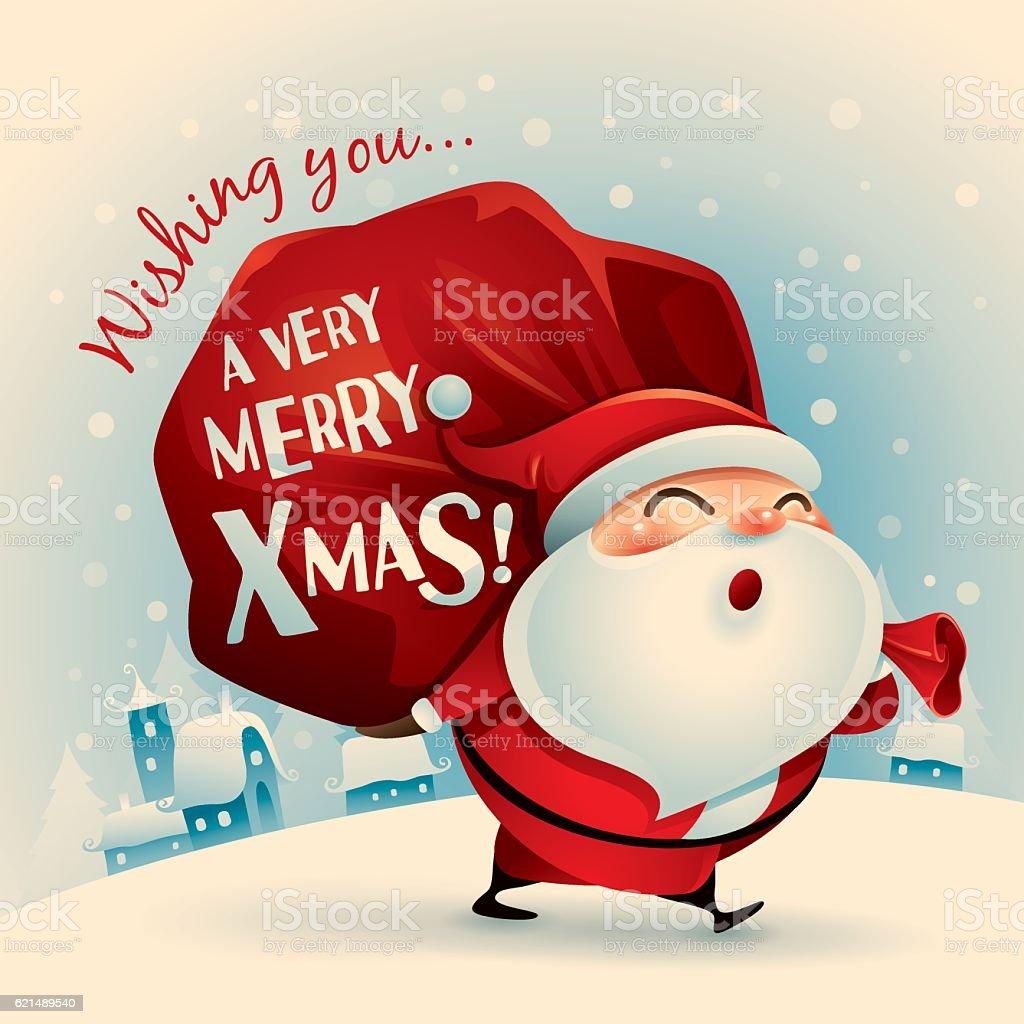 Wishing you a very Merry Christmas! Lizenzfreies wishing you a very merry christmas stock vektor art und mehr bilder von altertümlich